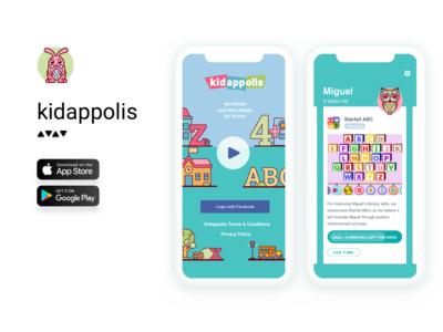 App for Kids icon minimal ios flat branding vector design logo illustration ux ui mobile app