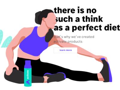 KV typography minimal flat ui vector illistration e-commerce illustration web