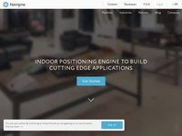 Navigine web-site redesign