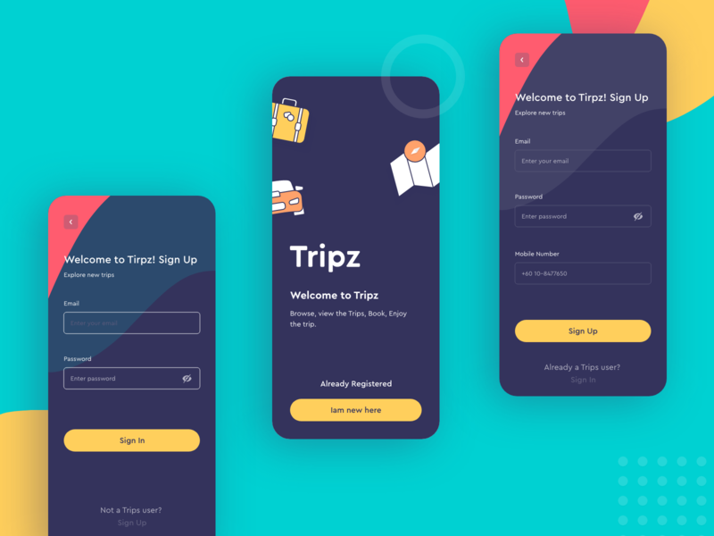 TRIPZ Sign-up/Sign-in