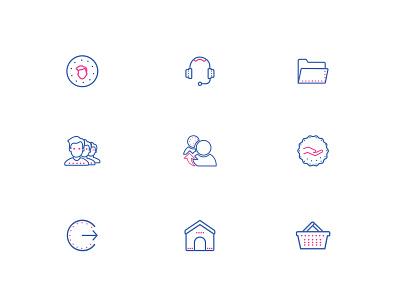 Icons illustration design appdesign lineicons icons set icons design icons profileicons