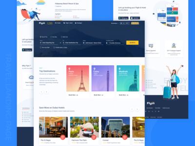 Travel Booking Landing Page