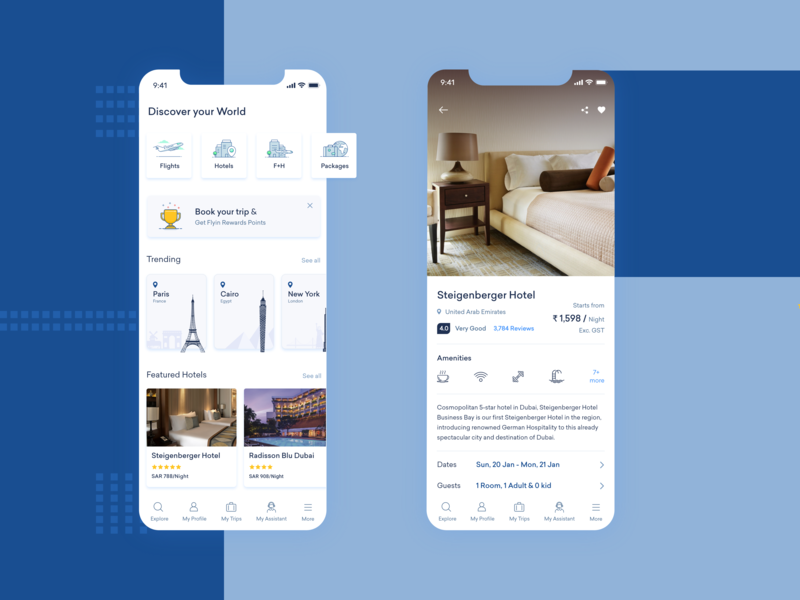 Travel App ui-ux ui flightbooking hotelbooking travelappdesign appdesign travel