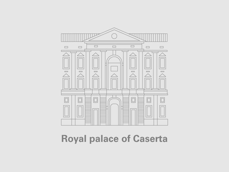 Illustration | Royal Palace Of Caserta caserta italy details icon design icon logo design logo illustration designs palace royal illustration art pictogram vector illustration visual monuments inline illustration design illustrations design