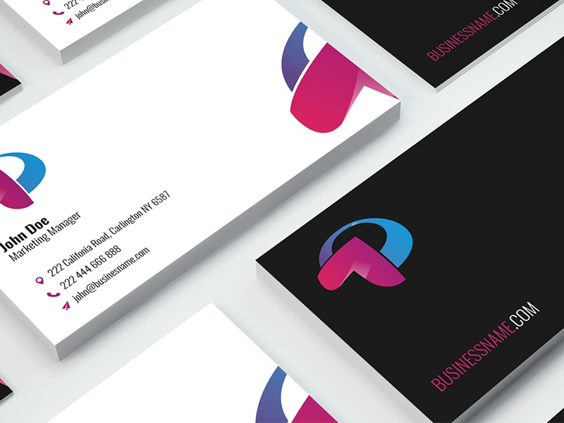 Freebie - Business Card Template coporate business card vector illustrator ai freebie free