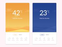 Weather UI Concept