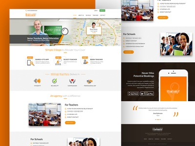 Teacher Finder Homepage askdzier ux website web user experience design ui design review homepage creative concept teacher