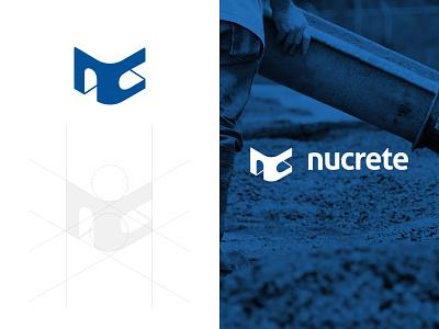 Nucrete type sketch mark logotype logo identity icon design construction branding