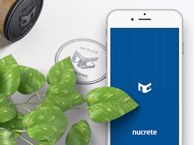 Nucrete Branding type sketch mark logotype logo identity icon design construction branding