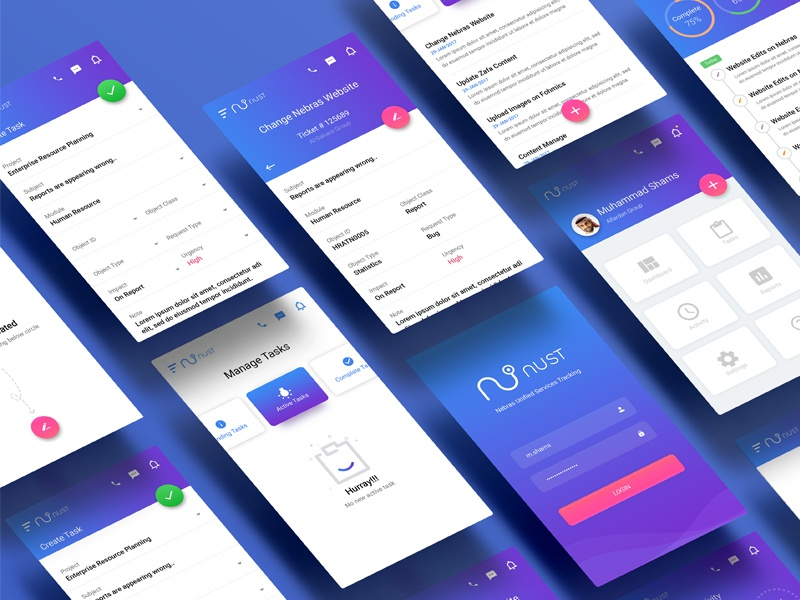 Task Management wip ux ui task management task support mobile app mobile design clean app android