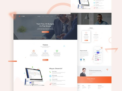 Landing Page ux ui template portfolio landing page interaction home page dribbble best shot creative app landing page