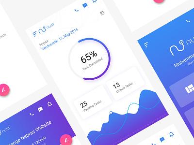 Task Management - Dashboard ux ui task management task support mobile app mobile design clean app android
