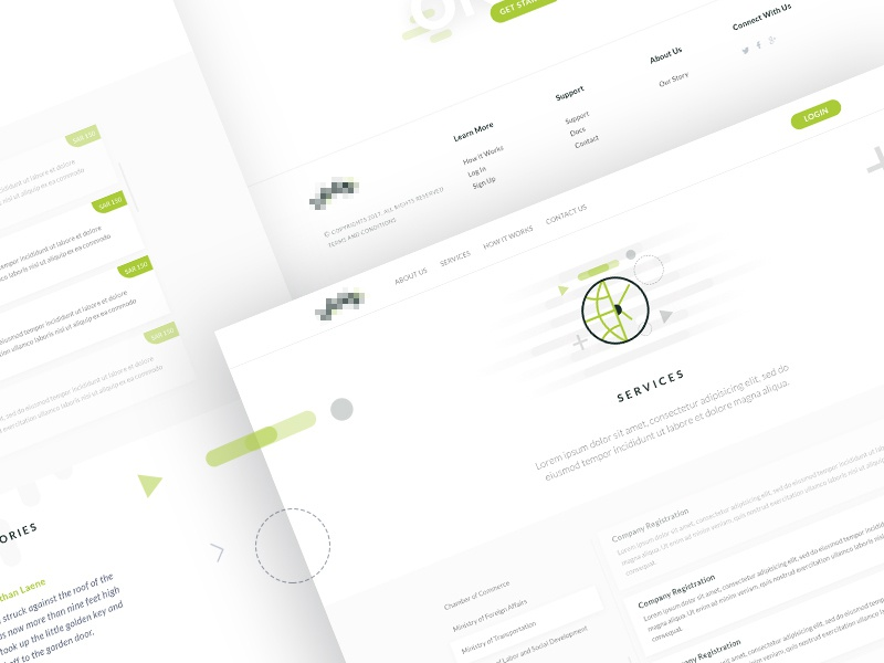 Online Document Verification - Service interaction website web app ux ui theme layout lawyer law landing page askdziner