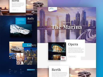 Landing Page - Yact Club yacht web travel responsive resort marine luxury landing page interface flat cruises boat