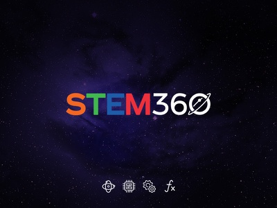 STEM360 icon stars training education space planet logo cosmos 2d