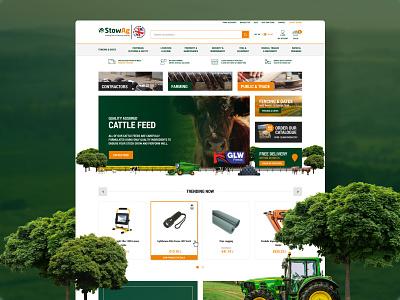 Stowag - Magento 2 Website magento 2 agriculture website web ux ui figma design