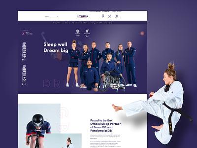 Dreams - Team GB design ux figma