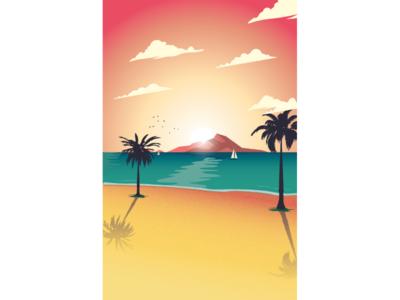 Beach sundown
