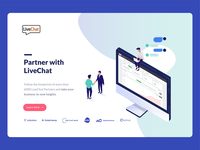 Partner with LiveChat landing page