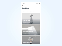 UI Interactions of detail page