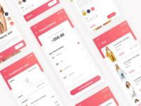 E-commerce app page