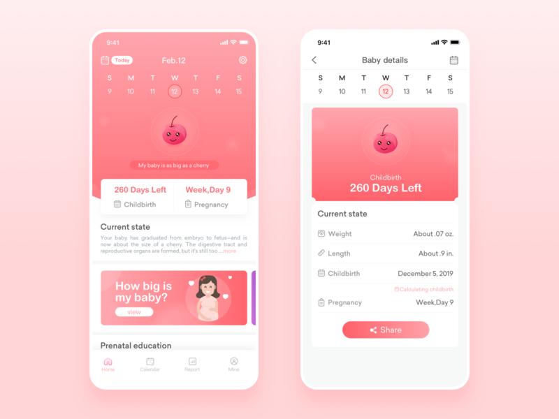 Female Health App app ui design