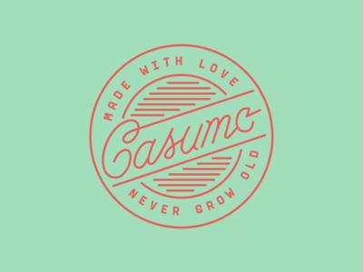 Casumo label apparel print nevergrowold brand casumo