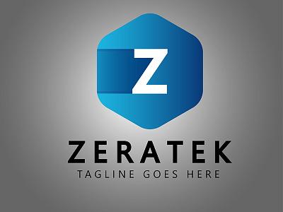 Cubical Z Letter Logo vector photography fox design cunning branding logo letter z cubical