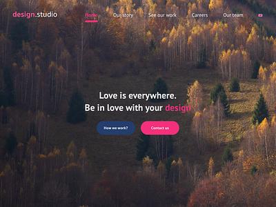 Design studio portfolio startup designstudio webdesign website portfolio love design simple ux ui