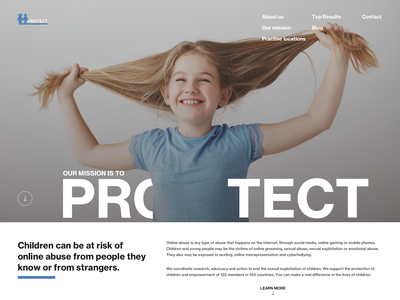 Protect (web page) simple webdesign kids ourchildren onlineabuse protect ux ui web design