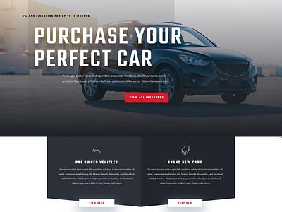 Car dealer landing page simple design websitedesign websites cars ux ui landing page car dealer