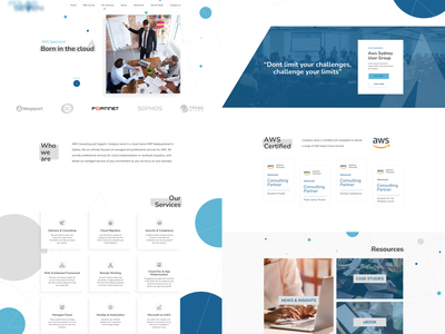 Website redesign (Professional services for AWS) solution aws software business company flat simple websitedesign website redesign ux ui