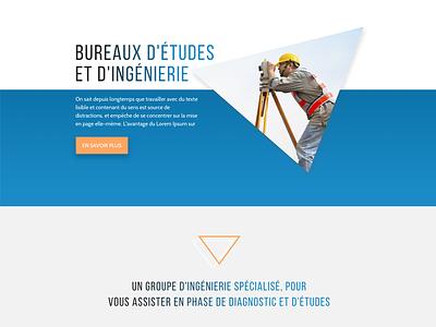 Geosynthese website sketch engineer land surveyor surveyor flat ux ui clean simple design website
