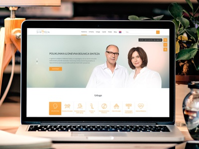 """Homepage Redesign of """"SINTEZA"""" Medical Clinic health beauty redesing homepage clinic medical ux ui"""