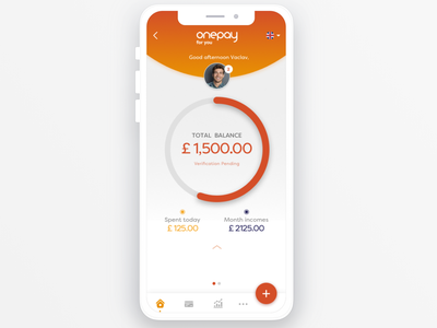 OnePay mobile app transactions agent banking online payments ebanking application ux ui mobile app