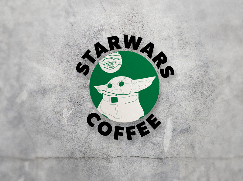 Star Wars Coffee star wars art sticker starwars baby yoda lightsaber star wars