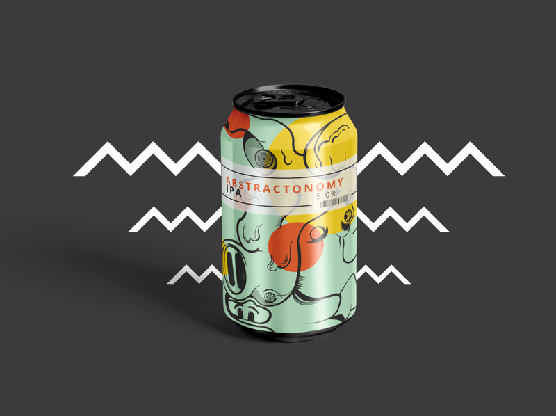 Abstractonomy IPA Beer Can Exploration beer label abstract can design can beer beer bottle beer art beer can design beer can