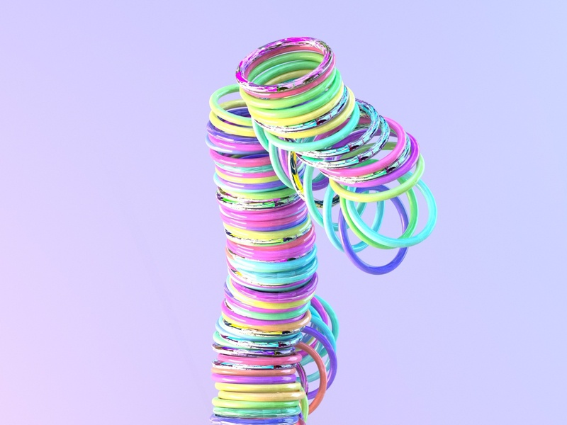 Falling Rings design colorful c4d render art cinema4dart cinema4d 3d rendering render 3d render