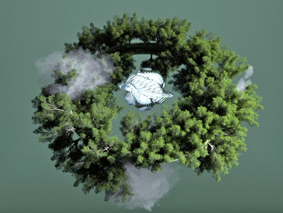 Mother Nature 3d art trees nature c4d 3d render render art 3d