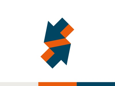 Up/ Down branding design brand identity brand design logo design logodesign logos arrows optical illusion isometric logomark minimal branding logo