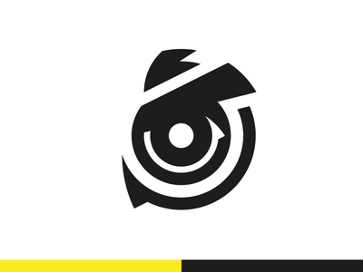 Ninox 360 Logo brand identity identity design logo design owl logo camera logo minimal modern logo logomark logo branding line art