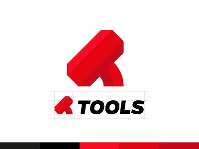 Tools logo branding design brand design brand identity logotype logos logo design logodesign tools hammer typography monogram branding modern logo minimal logomark logo