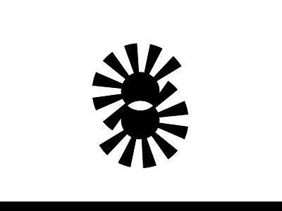 Spiral Staircase monogram lettermark optical illusion black and white logo design logo lettering typography monogram modern logo minimal branding logomark