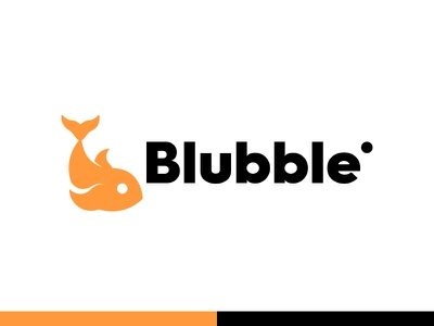 Blubble logodesign logo design logos identity vector fish logo illustration minimal modern logo illustrator branding logomark logo