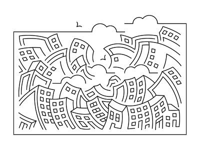 Concrete Jungle nyc big apple city illustration cityscape skyline new york minimal illustrator illustration line art fibonacci