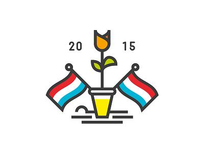 Happy Kingsday Dutchies vector illustrator illustration kingsday2015 koningsdag beer dutch holland prins pils the netherlands tulips nederland