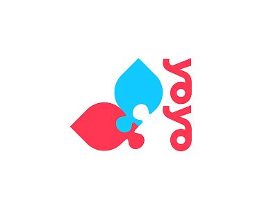 Yo Yo lo go bold icon logo puzzle yoga lotus flower design lettering logomark modern logo illustrator minimal typography branding