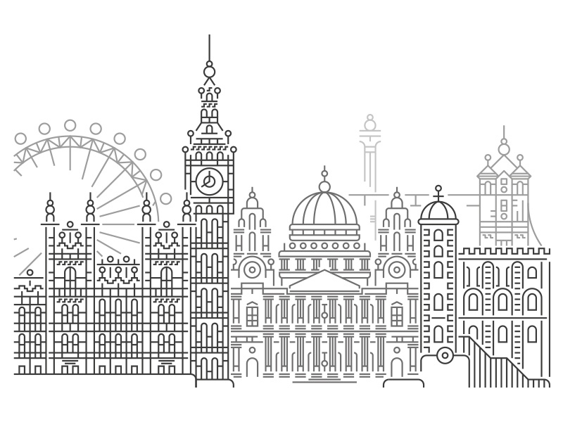 London logos london underground london bridge london eye london line art illustration illustrator minimal tattoo tattoo art minimal art fine liner vector tattoo artist tattoo design landscape landscape design landscape architecture landscape illustration