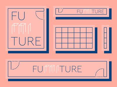 FU[RNI]TURE logo mark logodesign logo design logotype furniture minimal concept coffee lettering illustrator line art typography modern logo branding logo vector