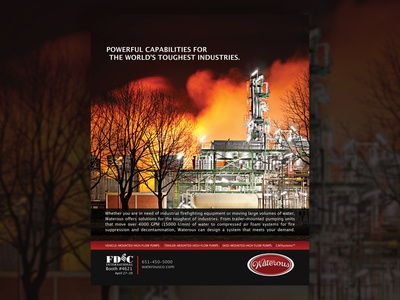 Fire Fighting Industrial Fire Magazine Ad